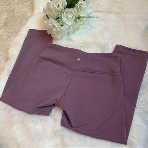 LULULEMON Reversible Crop Leggings Purple/Black